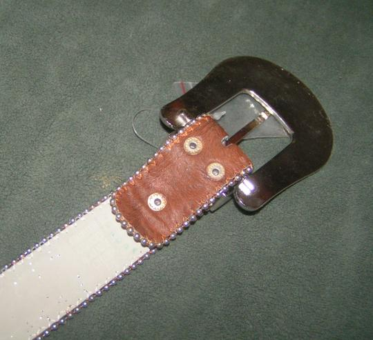 Other Reduced! Brown Hair On Hide Rhinestone Western Belt Free Shipping