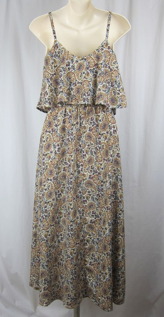 multi-colored Maxi Dress by Audrey 3+1 Floral Drapey Maxi Long Summer Modcloth