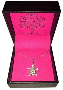 Posh Couture Crystal Sea Turtle Necklace