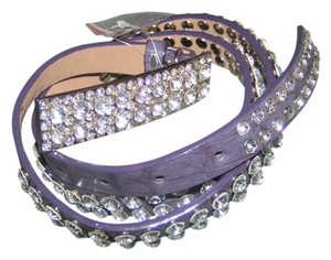 Reduced! Purple Rhinestone Western Bling Belt Free Shipping