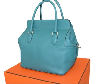 Hermès Satchel in malachite blue