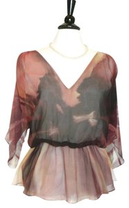 Alice + Olivia Top Rust, black, gold
