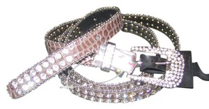 Other Reduced! Fancy 2 Row Rhinestone Textured Alligator Belt Free Shipping
