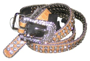 Other BOGO Tan Alligator Rhinestone Western Bling Belt Free Shipping