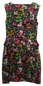 French Connection short dress Multi Color Floral Print Small on Tradesy