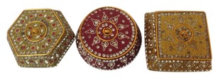 Pier 1 Imports Jeweled Trinket Boxes