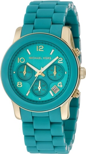 Preload https://item1.tradesy.com/images/michael-kors-turquoise-womens-chronograph-dial-mk5266-watch-5184865-0-1.jpg?width=440&height=440