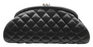 Chanel Satin Black Clutch