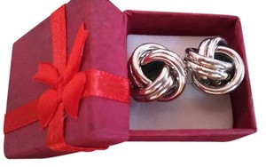 Other Silver Knot Stainless Stud Earrings Free Shipping