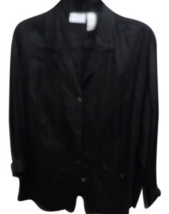 Elizabeth by Liz Claiborne Black Linen Pants and Jacket-Size 20 & 16