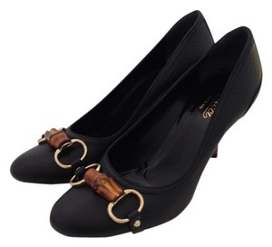 Gucci Bambbo Black Pumps