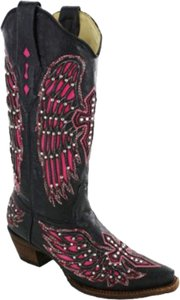 Corral Black/Pink Boots