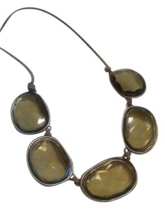 Coldwater Creek Green Giant Statement Necklace Coldwater Creek Necklace Free Shipping
