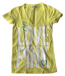 PINK T Shirt Yellow