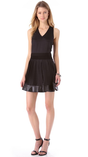 Cut25 Lbd Night Out By Yigal Leather Mini Dress