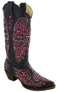 Corral Boots Black-Pink Boots