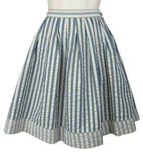 Urban Outfitters Sailor Pinup Retro A-line Skirt blue, cream