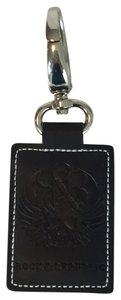 Rock & Republic Rock & Republic Black Leather Key Ring
