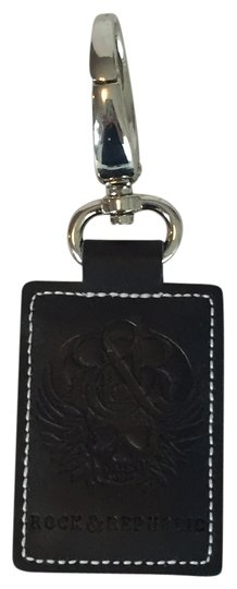 Preload https://item2.tradesy.com/images/rock-and-republic-black-leather-key-ring-5186011-0-0.jpg?width=440&height=440