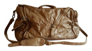 deux lux Leather Beige Travel Bag