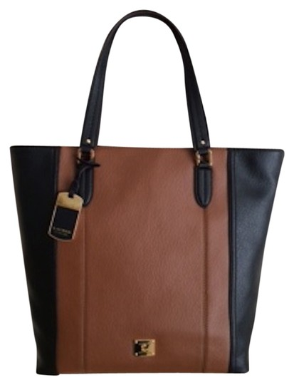 Lauren Ralph Lauren Tote in Black / Bourbon