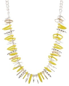 Kenneth Cole Kenneth Cole New York Urban Rings Necklace Yellow Silver Tone Crystals