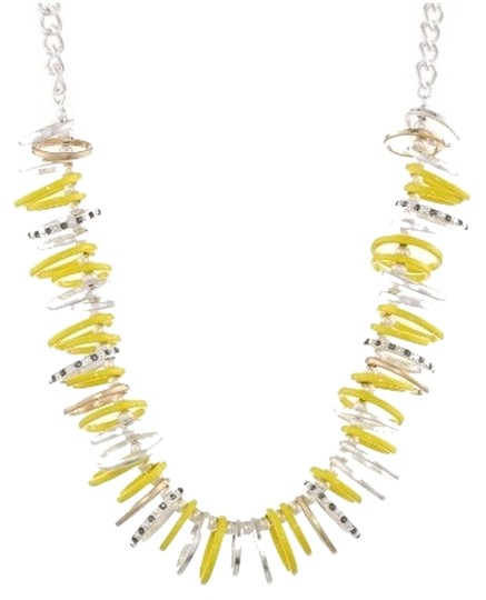 Preload https://item4.tradesy.com/images/kenneth-cole-kenneth-cole-new-york-urban-rings-necklace-yellow-silver-tone-crystals-5186713-0-0.jpg?width=440&height=440