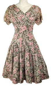 short dress multi-colored 50's Floral on Tradesy