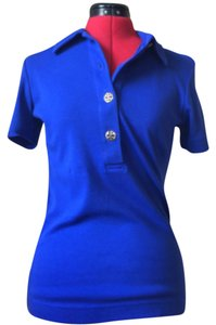 Tory Burch Button Down Shirt Royal Blue