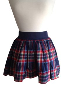 Hollister Mini Skirt Red, navy