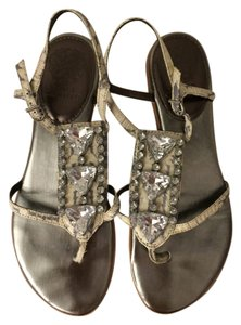 Vince Camuto Grey/White Matte Snake Flats