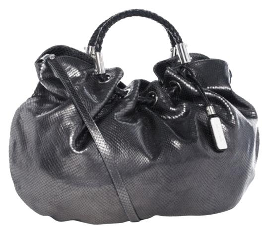 Michael Kors Collection Ring Tote Satchel in Silver/Pewter