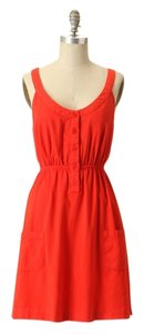 Anthropologie short dress orange All Trades Pockets on Tradesy