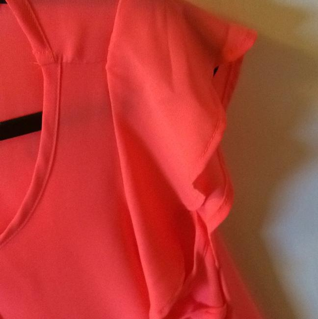 Lila Clothing Co Sheer Top Coral