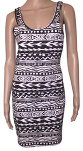 PINK short dress Black and White on Tradesy