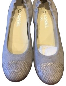 Chanel Classic Canvas Gray Flats