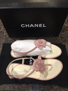 Chanel flip flops up to 70 off at tradesy chanel flat camelia pink sandals mightylinksfo Gallery