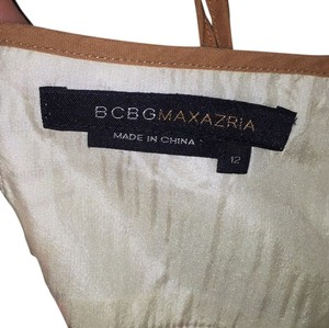 BCBGMAXAZRIA short dress Ivory with camel trim on Tradesy