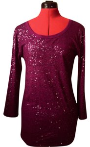 DKNY Top Burgundy sparkly