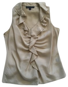 Lafayette 148 New York Top Shiny Tan Color