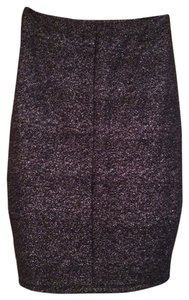 Bar III Sparkle Pencil Skirt Black