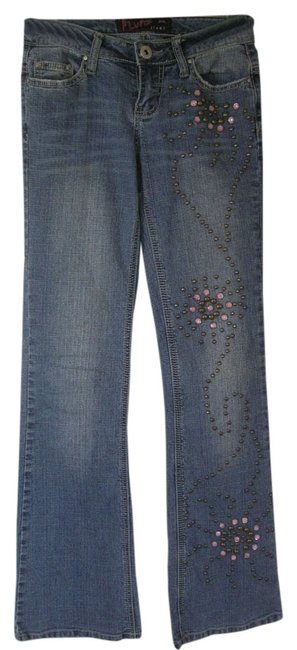 Preload https://item3.tradesy.com/images/blue-medium-wash-studded-boot-cut-jeans-size-24-0-xs-518962-0-0.jpg?width=400&height=650