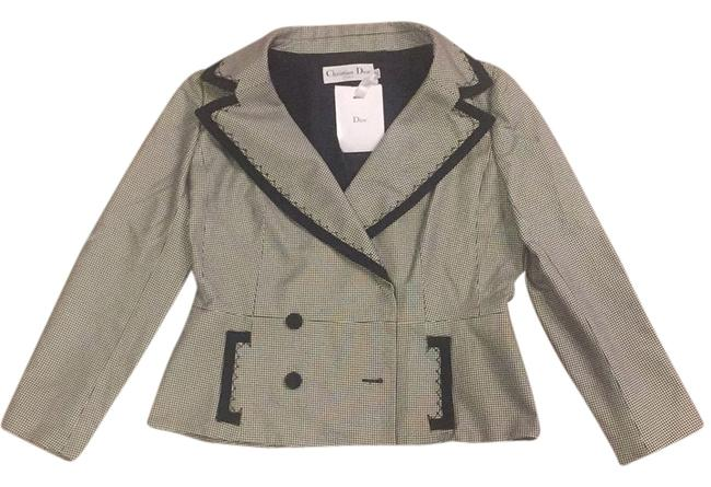 Preload https://item2.tradesy.com/images/dior-blackwhite-double-breasted-jacket-blazer-size-14-l-5189671-0-0.jpg?width=400&height=650