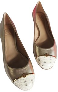 Tory Burch Champagne/Natural Flats