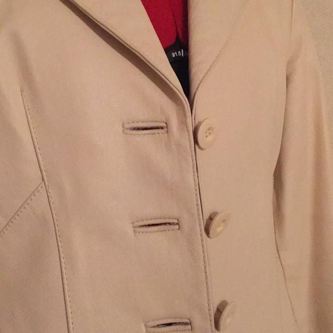 Wilsons Leather Bone color Leather Jacket