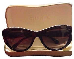 Chanel Chanel Sunglasses 6038H Brown with Pearls