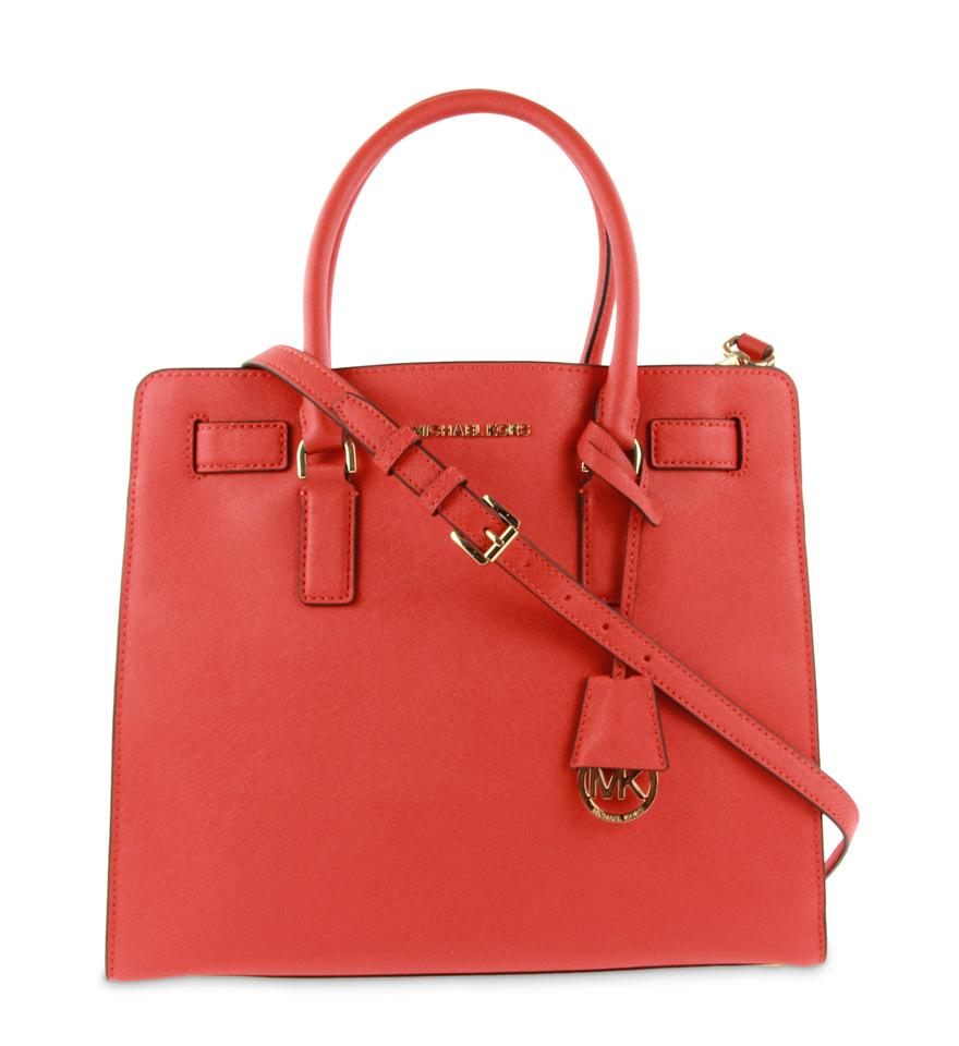 e6210b4f5c7f Michael Kors Dillon Red Saffiano Leather Satchel - Tradesy
