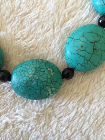 Other Turquoise, large-bead necklace