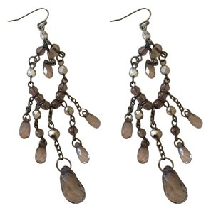 Faux crystal dangle earrings