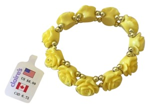 Claire's Yellow Rose Bracelet